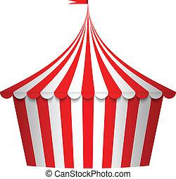 illustration of circus tent