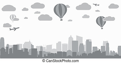 city background for advertising