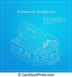 Vector illustration of city building blueprint.
