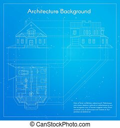 Vector illustration of city building blueprint.