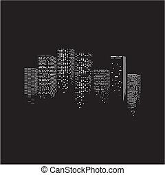 Vector illustration of city - Vector illustration of night...