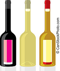 vinegar and olive oil bottles - vector illustration of...