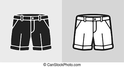 shorts - Vector illustration of classic shorts, clothes icon