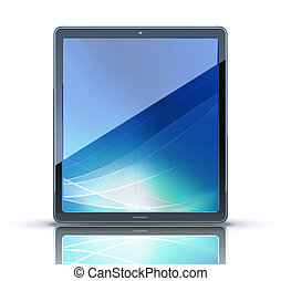 tablet PC - Vector illustration of classy tablet PC. Ideal...