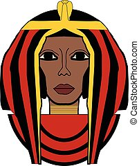 Vector illustration of Cleopatra