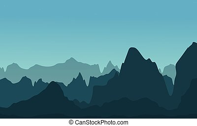 Vector illustration of cliff landscape collection