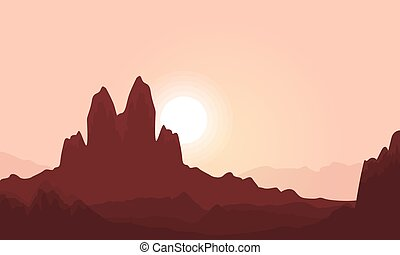 Vector illustration of cliff landscape
