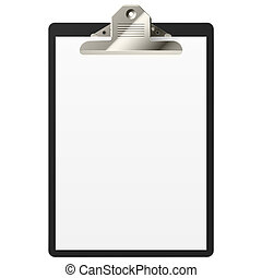 Vector illustration of clipboard with blank paper