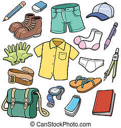 Vector illustration of Clothes set