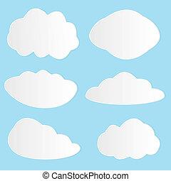 Vector illustration of clouds set