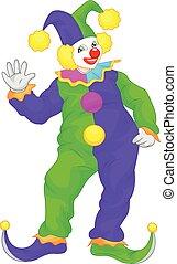clown cartoon waving