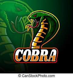 Cobra esport logo mascot design