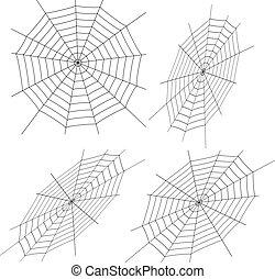Vector illustration of cobweb