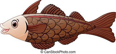 Cod fish cartoon