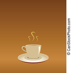 coffee mug on abstract background