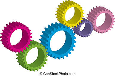 Vector illustration of cog-wheel - Vector illustration of...
