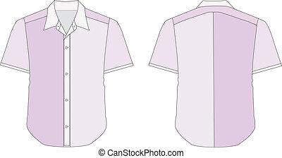 Collar Dress Shirt In Purple Color Tones