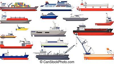 collection of ship cartoon