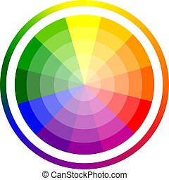 Vector illustration of color circle of twelve colors.