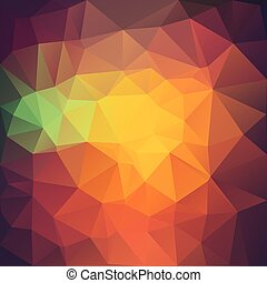 Vector illustration of colored triangle background.