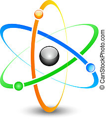 atom - Vector illustration of colorful atom