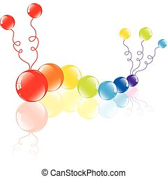 colorful balloons on the floor