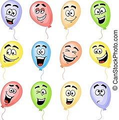 colorful cartoon balloons