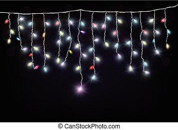 Colorful Christmas light