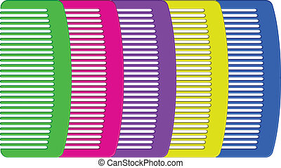 colorful combs