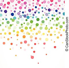 Colorful confetti on white