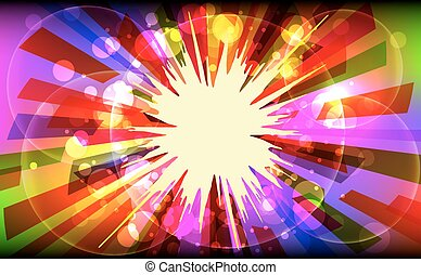 Vector illustration of colorful explode.