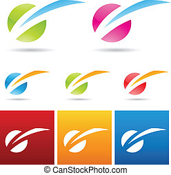 light struck icon - vector illustration of colorful light...
