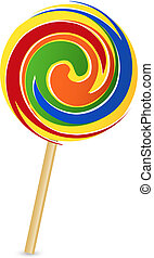 Vector illustration of colorful lollipop