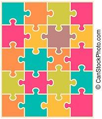 puzzle, separate pieces