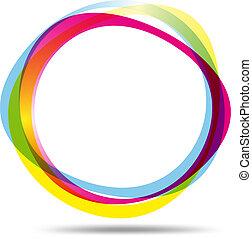 Colorful ring logo