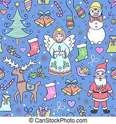 colorful seamless christmas pattern