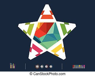 vector illustration of colorful sta