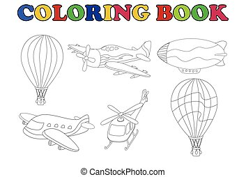 coloring book of air transportation