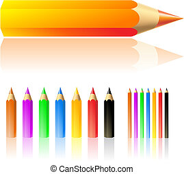 colour pencils - vector illustration of colour pencils ...