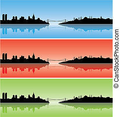 Colourful Istanbul - vector illustration of Colourful ...