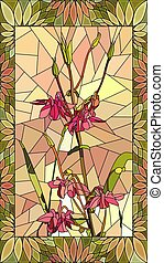 Vector illustration of columbine flowers. - Vector mosaic ...