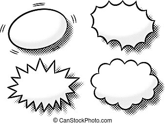 vector illustration of comic effect bubbles