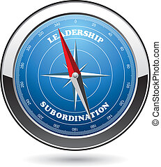 vector illustration of compass as a concept of choice