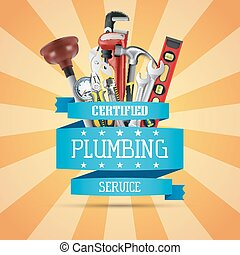 Construction repair tools - Vector illustration of ...