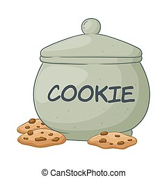 Vector Illustration of Cookie Jar