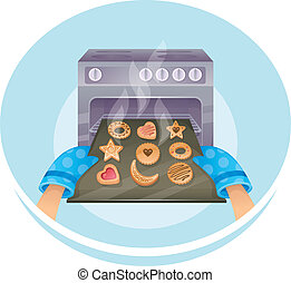 Cookies set - Vector illustration of Cookies set