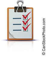check list - Vector illustration of cool check list on ...