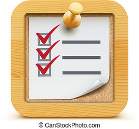 check list - Vector illustration of cool check list with ...