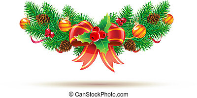 Christmas composition - Vector illustration of cool ...