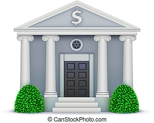 bank icon - Vector illustration of cool detailed bank icon...